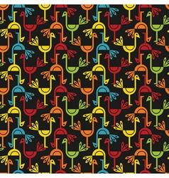 colorful birds vector image vector image