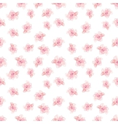 Hibiscus Flowers Pattern Hand-Drawn vector image vector image