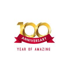 100 year anniversary year amazing template vector