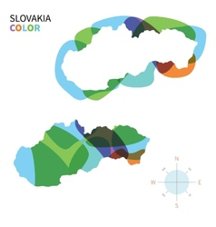 Abstract color map of Slovakia vector image