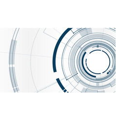 Abstract technological tunnel template design vector