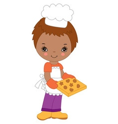 African American Little Chef vector