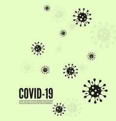 background with bacillus coronavirus vector image