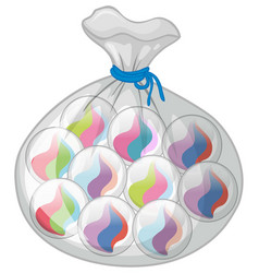 bag of colorful marbles vector image