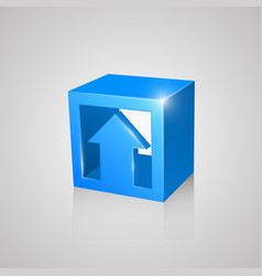 Box with arrow blue vector