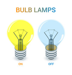 bulb lamps set vector image