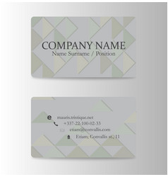 Business card creative abstract visit card vector