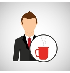 Cartoon dad father day cup coffee vector