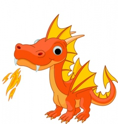 Cartoon fire dragon vector
