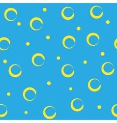 Circle abstract yellow vector image