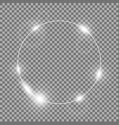 Circle of light white color vector