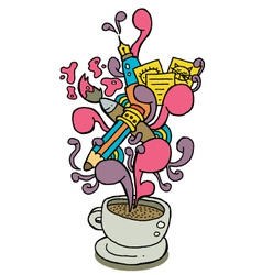 coffee cup series creativity vector image