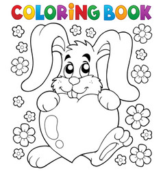 coloring book valentine topic 2 vector image