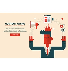 Content is king concept vector image