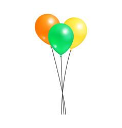 creative air balloon in bundle realistic design vector image