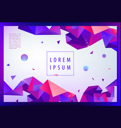 Creative geometric wallpaper facet banner vector