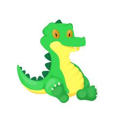 Crocodile animal cartoon alligator vector