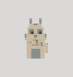 Cute kitten domestic pet pixel art vector