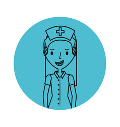 Cute nurse avatar character vector
