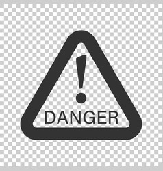 danger sign icon attention caution business vector image