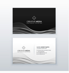 dark business card template design vector image