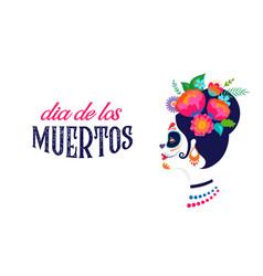 Dia de los muertos day dead mexican vector