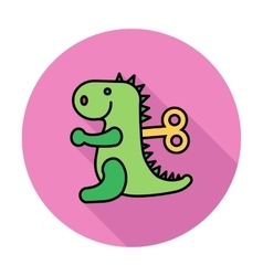 Dinosaurus toy vector image