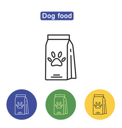 Dog food line icon vector