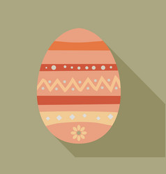 easter egg with shadow vector image vector image