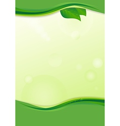 Eco background with leaves vector