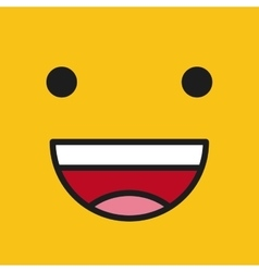emoticon face design vector image