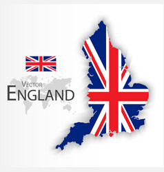 England flag and map vector