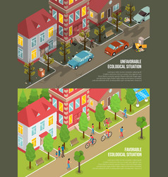 Environmental situation isometric vector