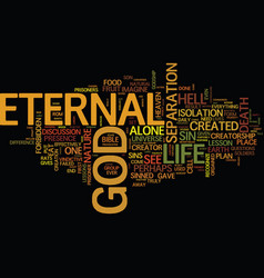 Eternal life series lesson text background word vector