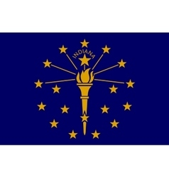 Flag of Indiana in correct size and colors vector