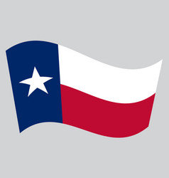 flag of texas waving on gray background vector image