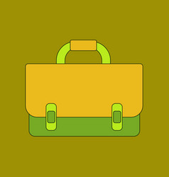 Flat icon thin lines school bag vector