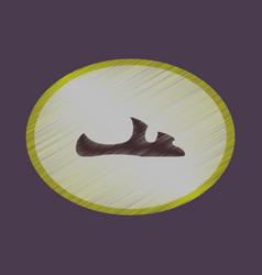 Flat shading style icon footwear flip flops vector