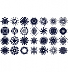 Floral stencils vector