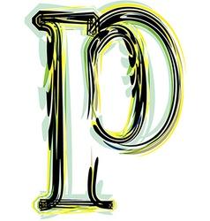 Font letter p vector