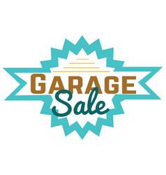 Garage sale sign advertising deals logotypes vector