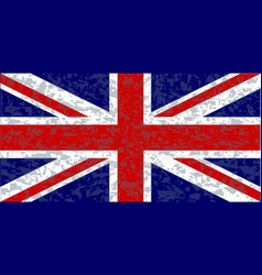 grunge union jack flag vector image