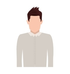 Half body silhouette man with jacket vector