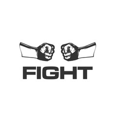 hand clenched design logo for fightin vector image