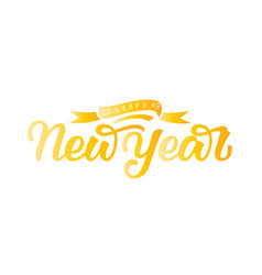 happy new year hand draw lettering vector image