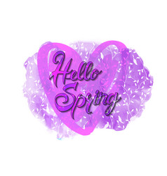 hello spring card template vector image