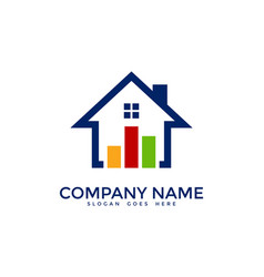 Home report logo icon design vector