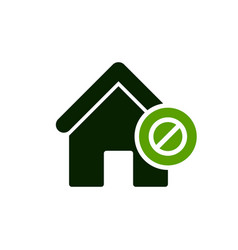 House icon with not allowed sign vector
