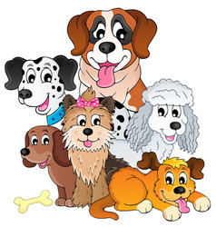 Image with dog topic 8 vector