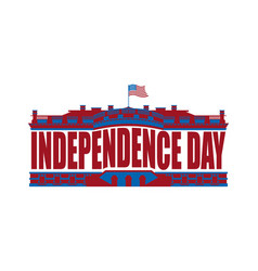 independence day usa emblem white house america vector image